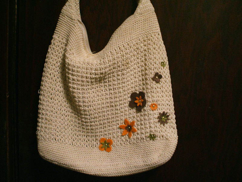 Felt Flowers purse