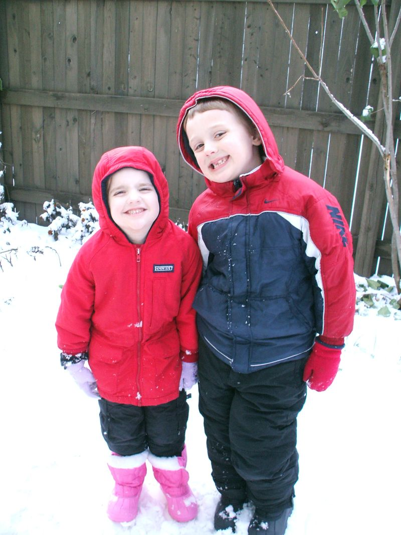 First snow 2008 sibs