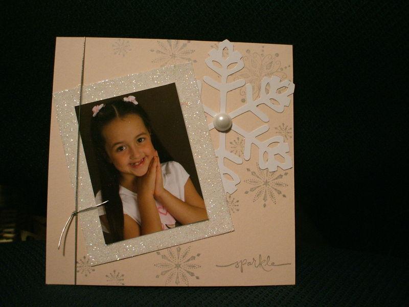Snowflake 6x6 page