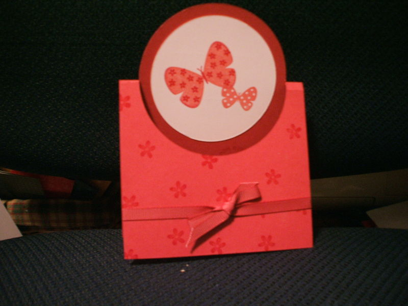 Rose butterfly swing card