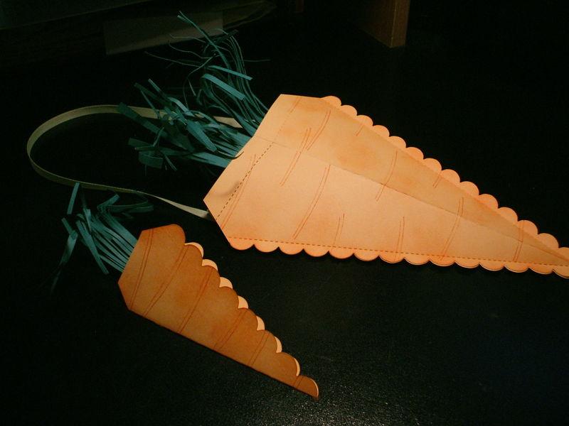 Carrot Door Hanger and Card
