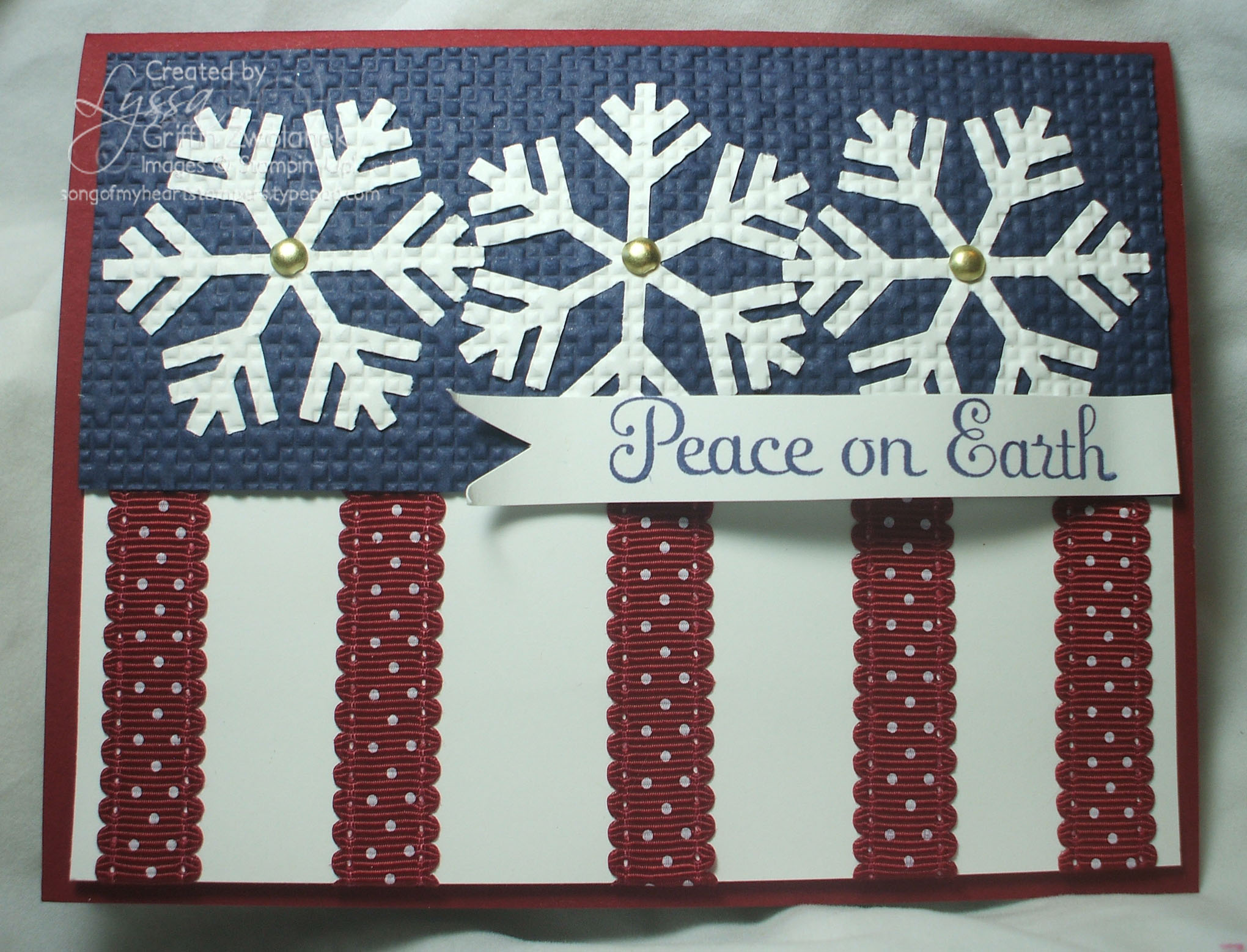 patriotic christmas card song of my heart stampers