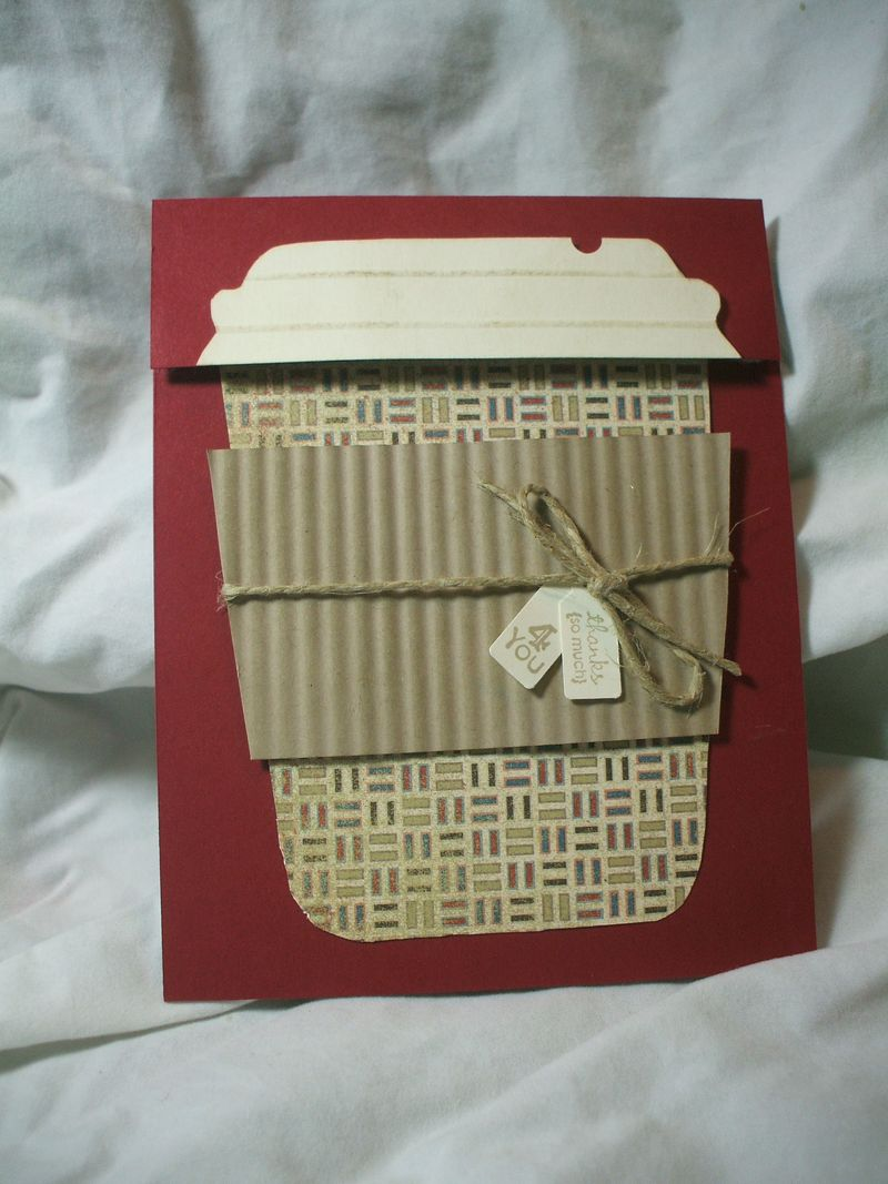 Coffee Holder Template Coffee Cup Gift Card Holder