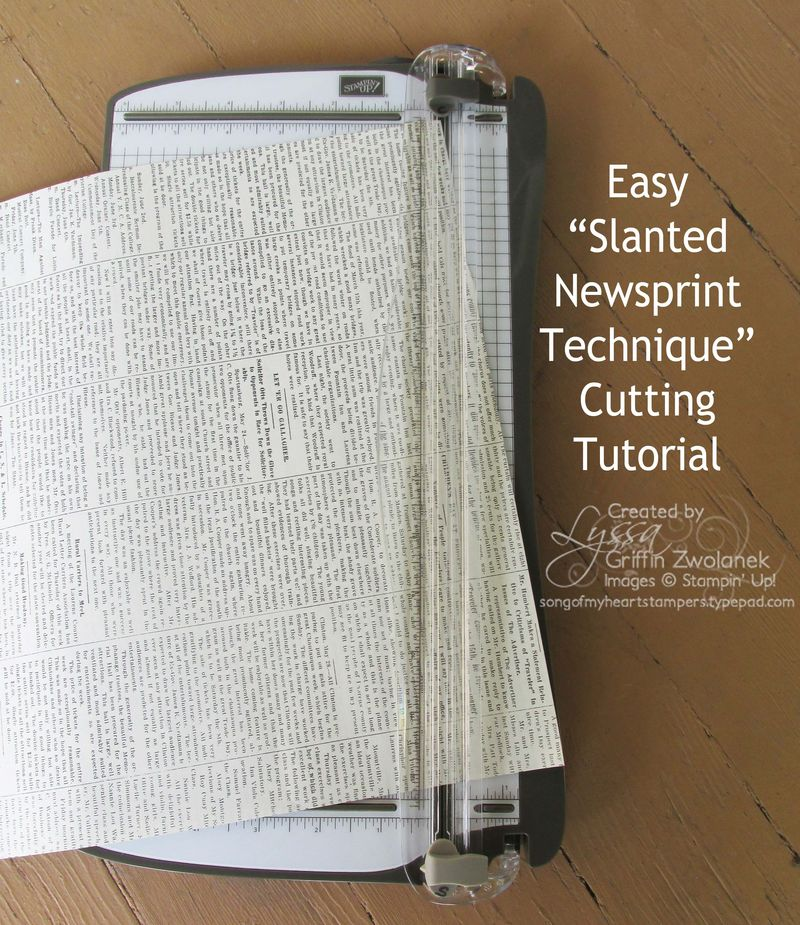 Slanted Newsprint Tutorial