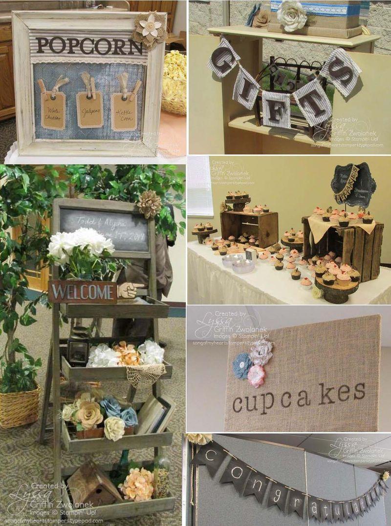Reception collage