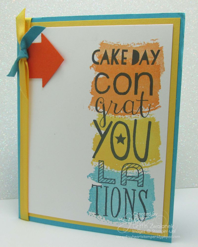 Stampin up bravo congrats hooray card