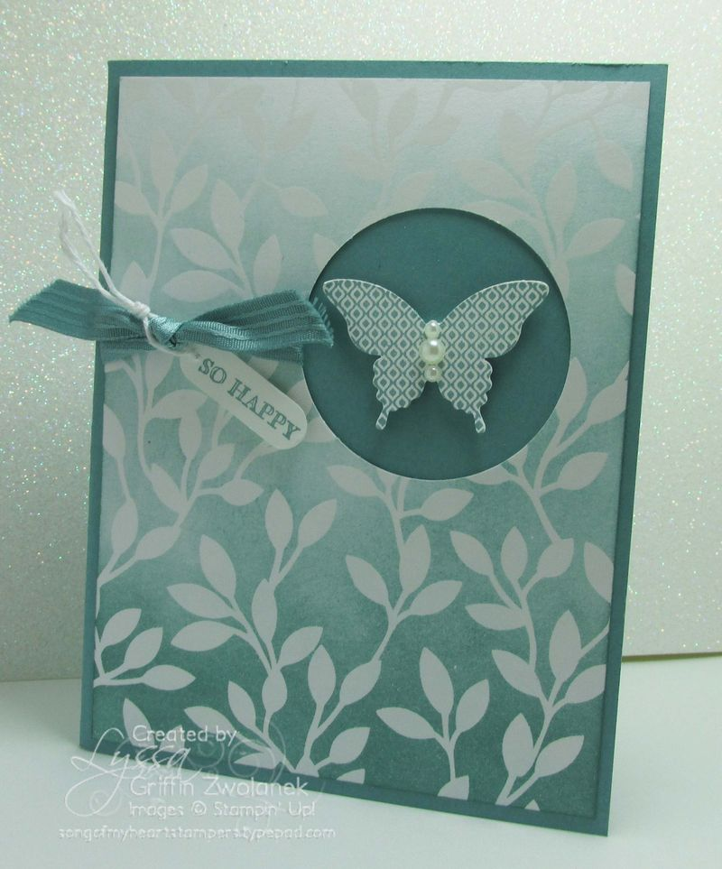 Ombre Iresistibly Yours Stampin Up Sale A Bration card