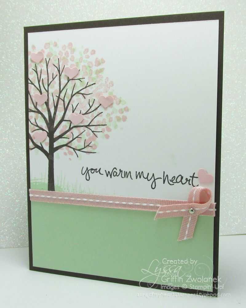 Sheltering tree Stampin Up greeting card