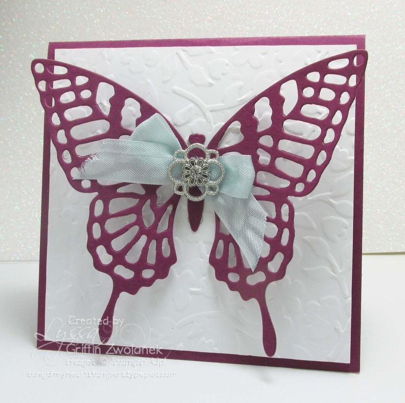 Butterfly Thinlet Big Shot Stampin Up Wedding Anniversary Card