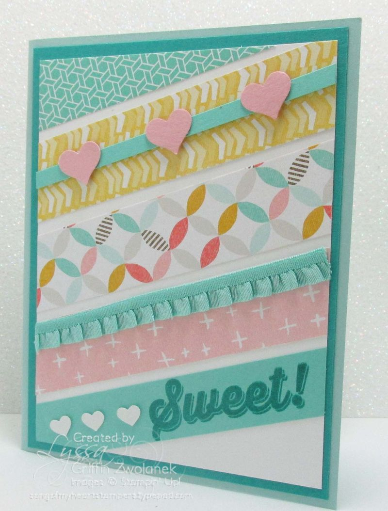 Patterned Paper Strips Sweet Card Stampin Up
