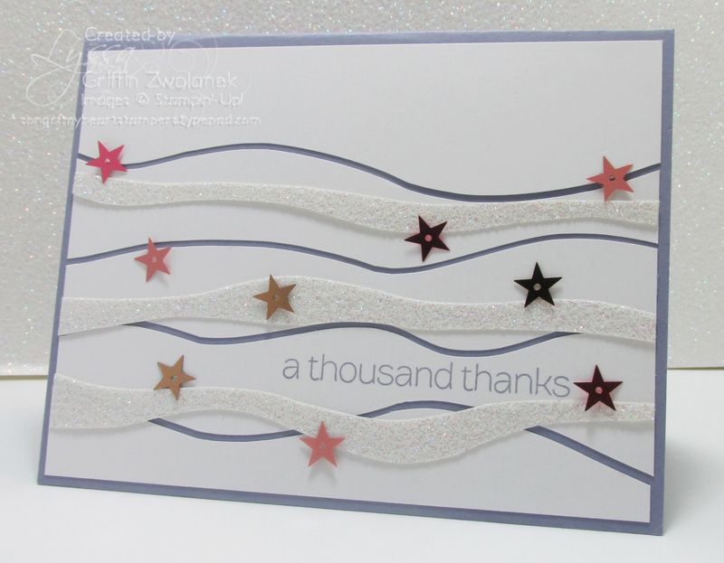 Starry Strips Card Stampin' Up Color Wave Technique