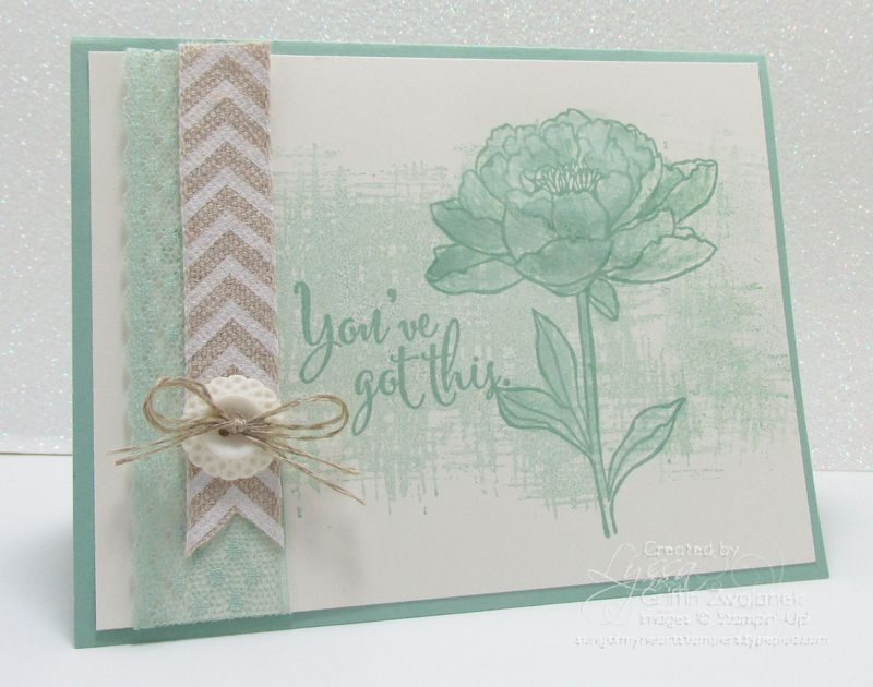 Mint Macaroon Encourage Card Stampin Up