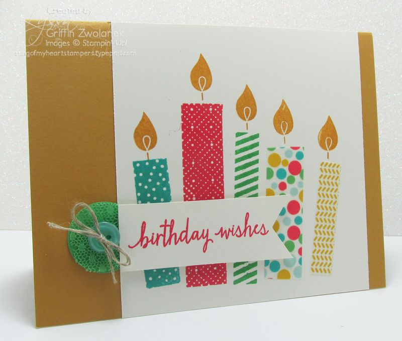 Build a Birthday candles Stampin Up In Colors