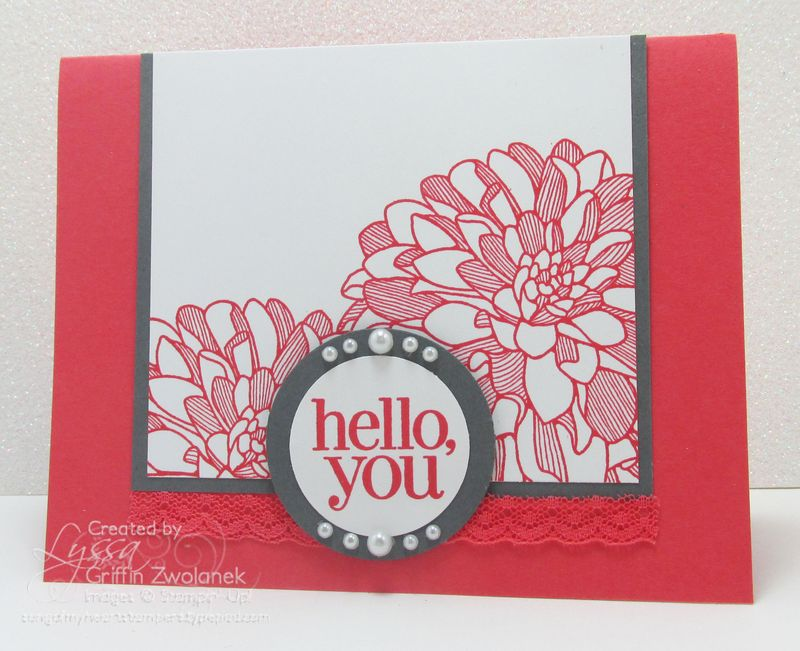 Watermelon Wonder Dahlia Card Stampin Up