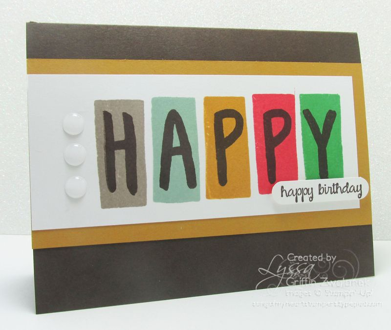 Layered Letters Alphabet Card Stampin Up