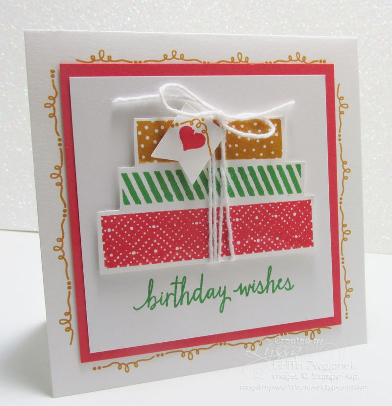 Birthday Packages Card with Envelope Stampin Up