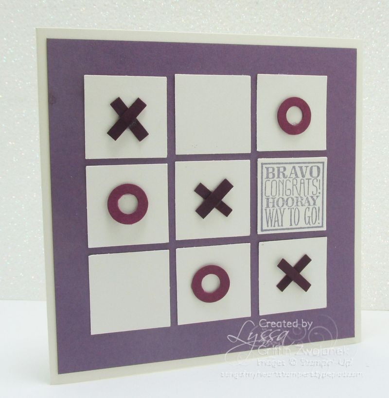 Cheat Sheets Collection Tic Tac Toe Congrats Stampin Up Card