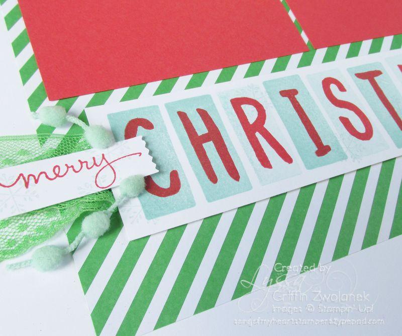 Christmas Circles Layout closeup