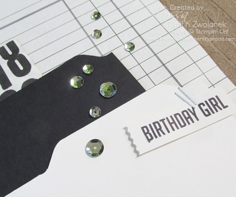 Black and White Vintage Birthday Closeup
