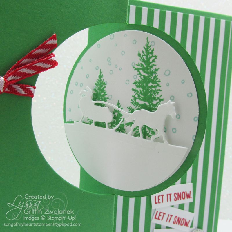 Cucumber Crush Christmas Sleigh Card