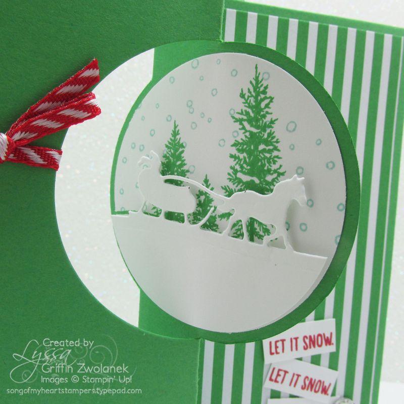 Cucumber Crush Christmas Sleigh Card