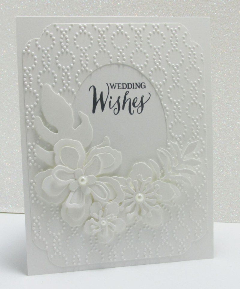 white on white wedding card technique anniversary Stampin Up www.songofmyheartstampers.com
