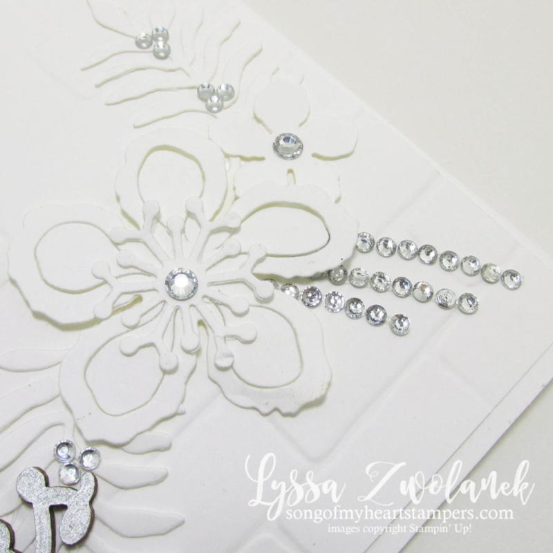 white on white floral stunner botanical builders framelits stampin up www.songofmyheartstampers.com