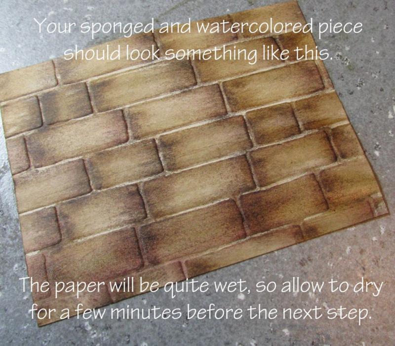 brick wall embossing folder tutorial basket weave #stampinup Big Shot www.songofmyheartstampers.com