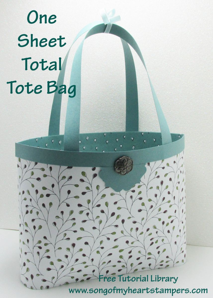 one sheet wonder tote bag #stampinup www.songofmyheartstampers.com free cardmaking tutorial library