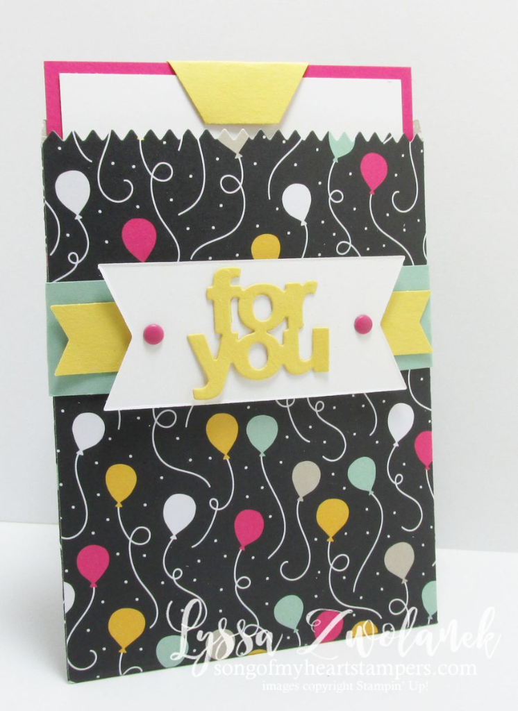 gift card sleeve holder birthday cards #stampinup www.songofmyheartstampers.com