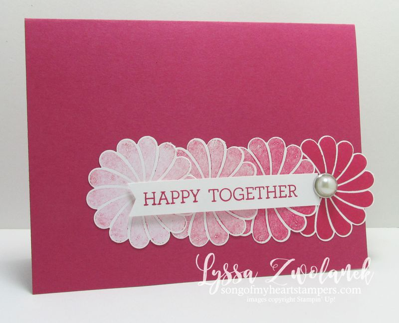 One technique four cards tutorial #stampinup www.songofmyheartstampers