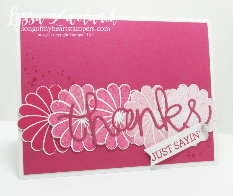 Ombre hello card thinking of you stampin up songofmyheartstampers