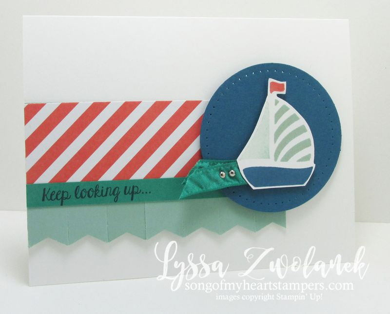 Keep looking up card stampin up little boat