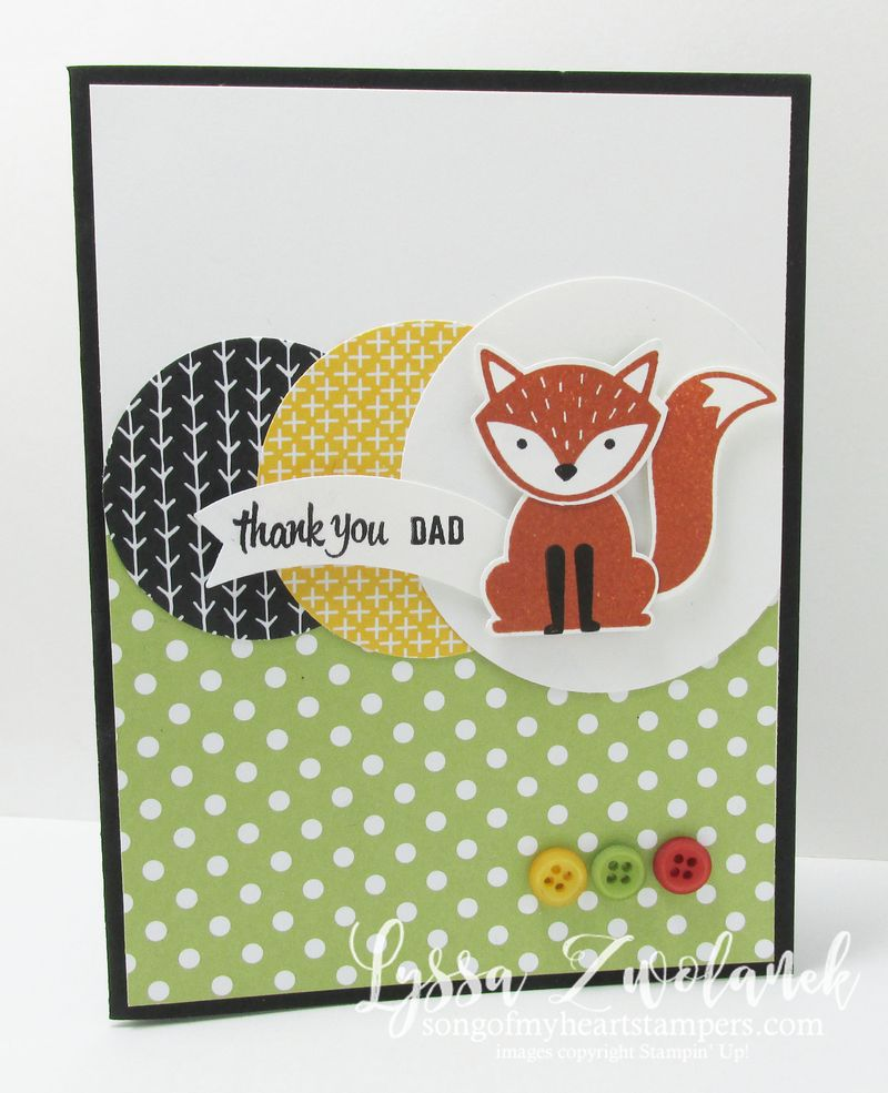 A little foxy fox punch stampin up dad father card