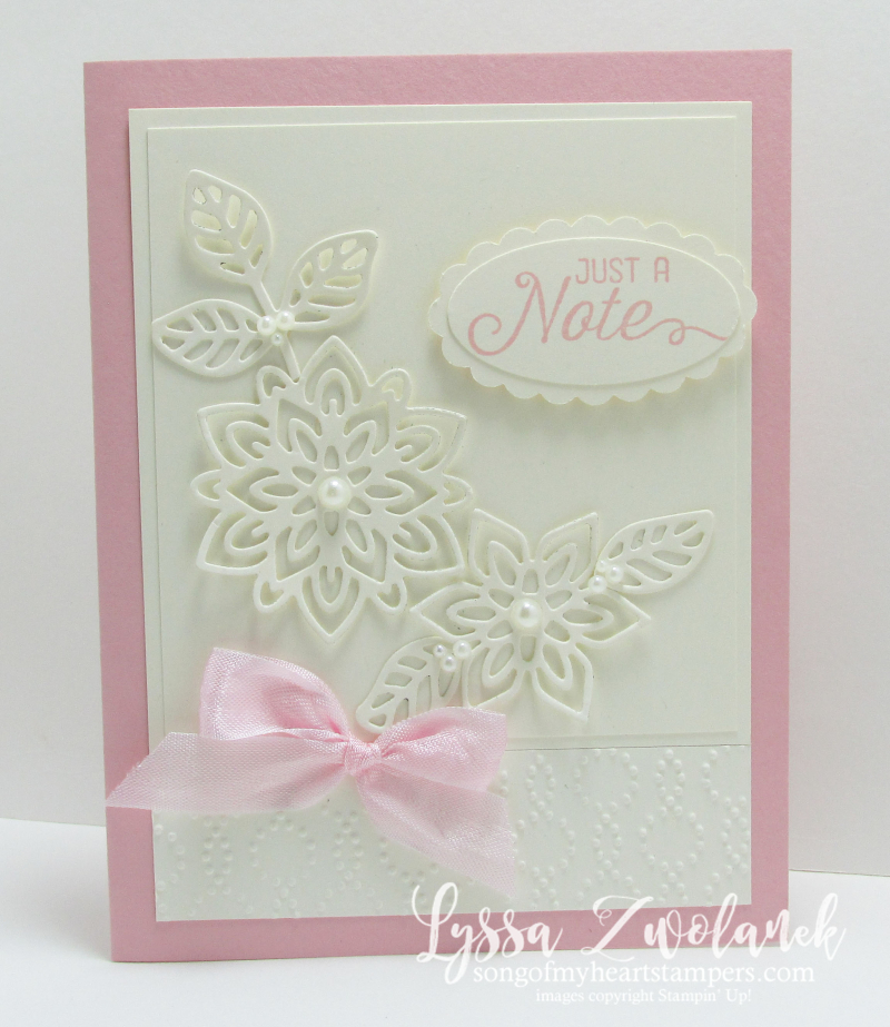 Pink vanilla flourishing flourish thinlets card stampin up