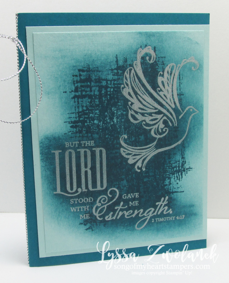 Strength Prayers Praying Card Stampin Up Dove Background Technique