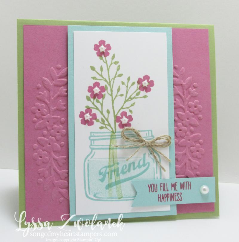 Mason jar flowers everyday stampin up card