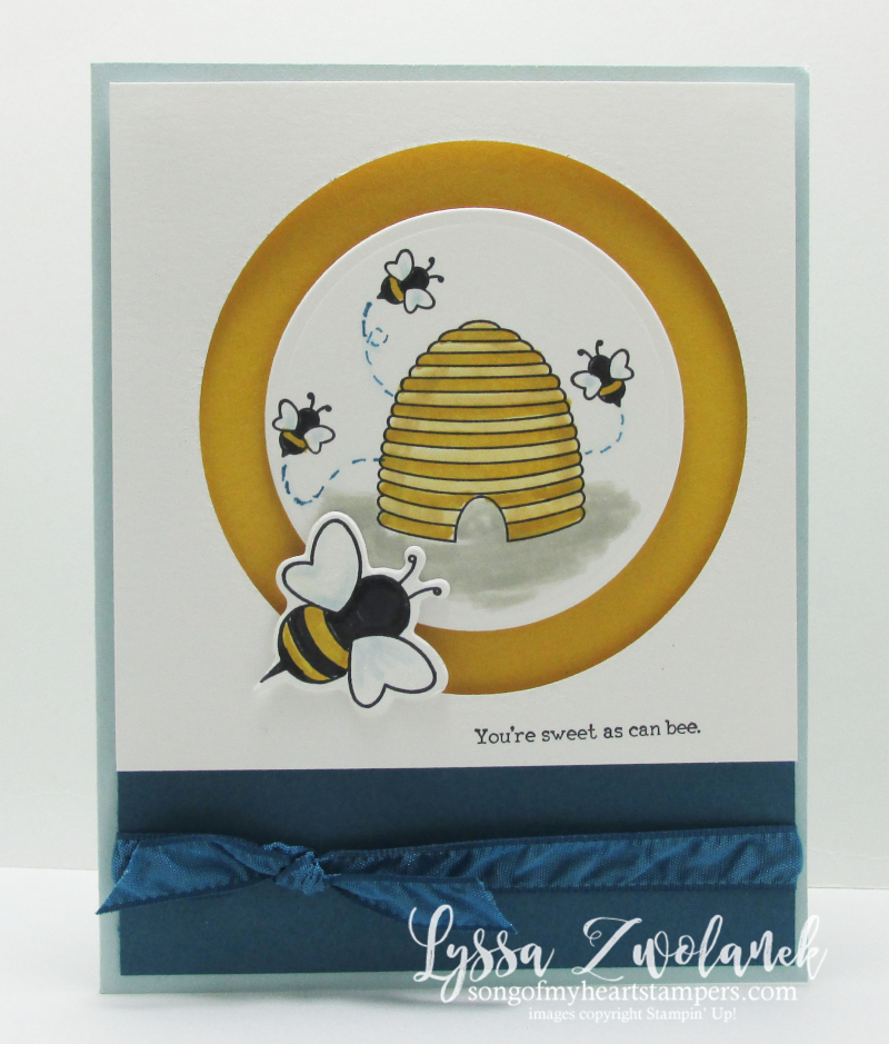 Sweet as can be shooting star Stampin Up card hive honey