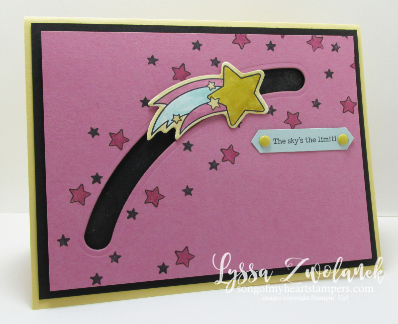 Shooting star Stampin Up spinner songofmyheart cards