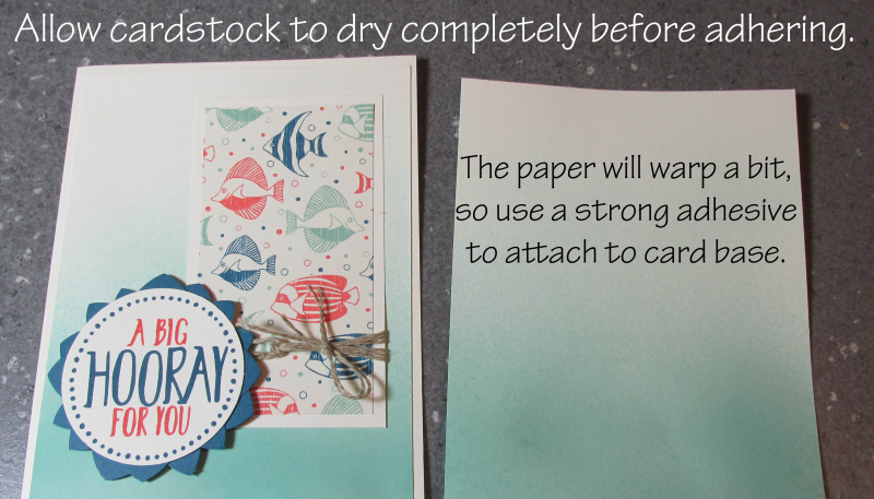 Ombre Spritzing Background Tutorial Technique Song of My Heart Stampers