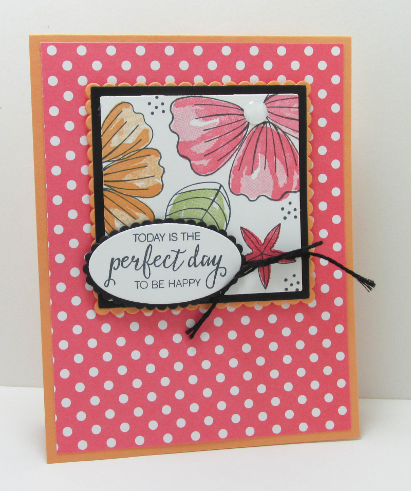 Perfect day to be happy Stampin Up cardmaking DIY songofmyheart