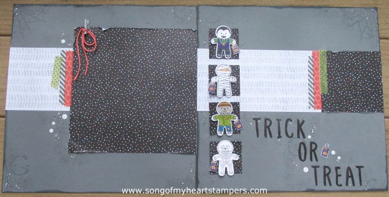 31 Pages in 31 Days Song of My Heart Scrapbooking Halloween Cookie Cutter Punch Page