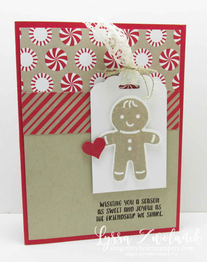 Cookie Cutter Christmas Punch Art Sweet Holiday Stampin Up card