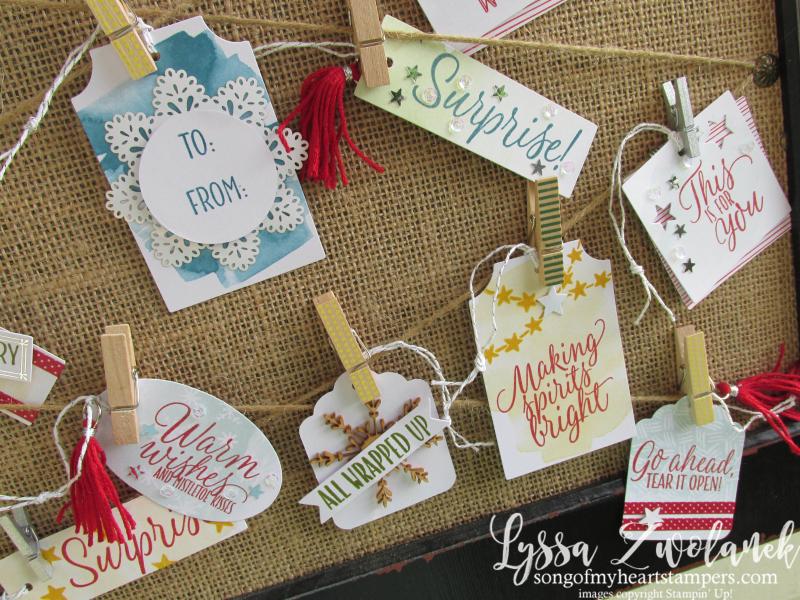 Tin of Tags Holiday Gift Tag Stampin Up Christmas Wrapping Set