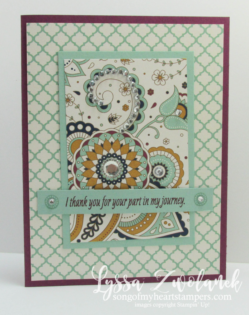 Paisleys Posies Stampin Up Designer Series Paper