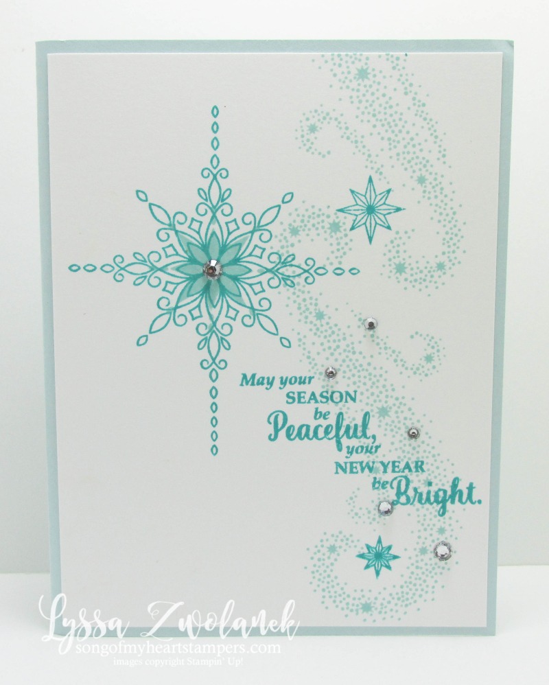 Star of Wonder Light Christmas Card Stampin Up Lyssa Zwolanek