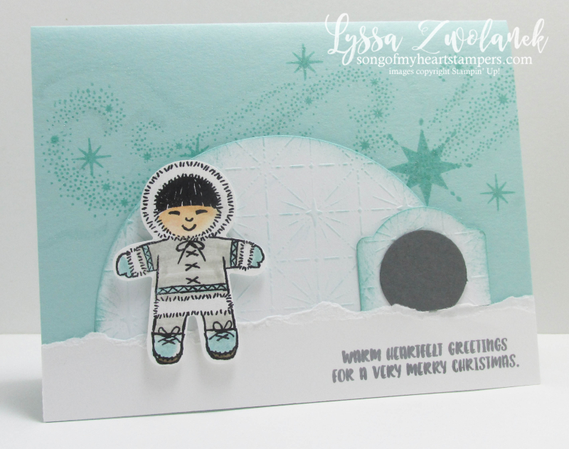 Cookie Cutter Christmas Eskimo Igloo Punch Art Stampin Up Lyssa Zwolanek