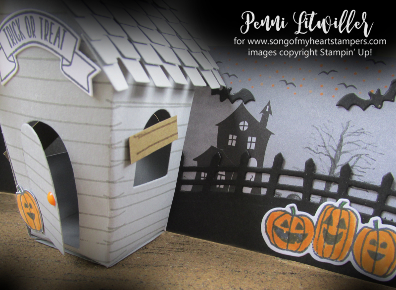 Halloween Sweet Treat Houses Gingerbread Christmas Stampin Up Sizzix