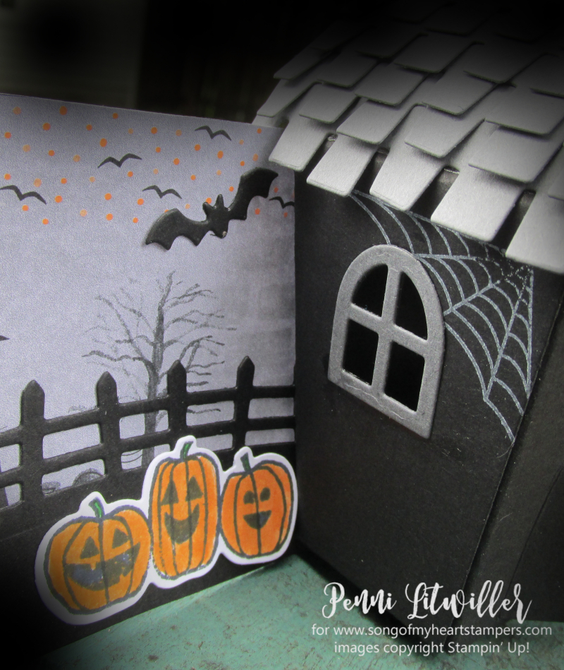 Halloween Sweet Treat Houses Home decor Stampin Up Sizzix