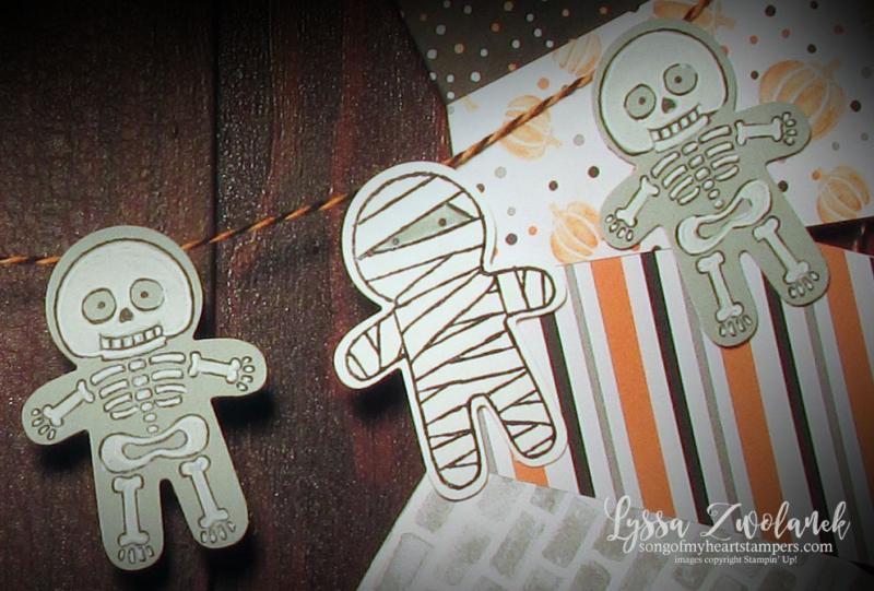 Halloween Wreath Stampin Up designer series paper sale home decor cookie cutter punch art